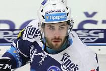 Hokejová Plzeň prohrála nedělní zápas v Litvínově 1:3, když jediný gól Škodovky vstřelil Michal Poletín (na snímku)