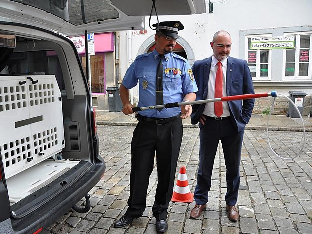 Nové odchytové vozidlo plzeňské městské policie