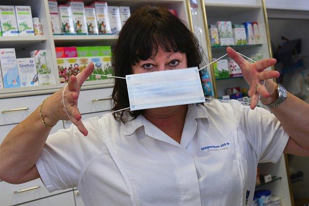 Majitelka lékárny UBílého jednorožce Jana Řehulová.