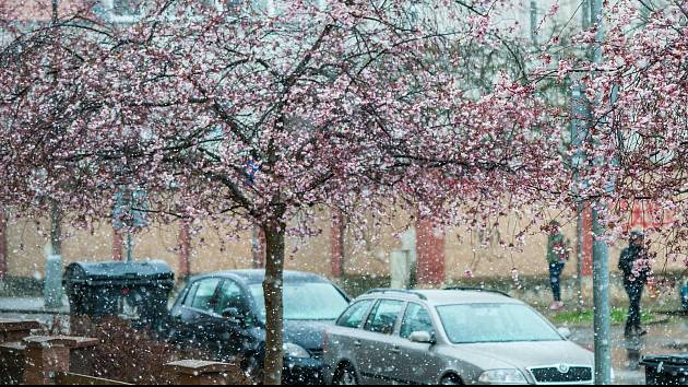Aprílové počasí v Plzni.