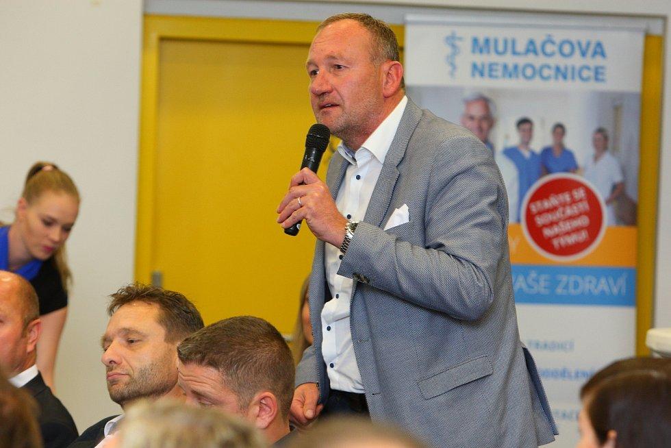 Setkání s hejtmanem Plzeňského kraje Josefem Bernardem v plzeňské Techmanii