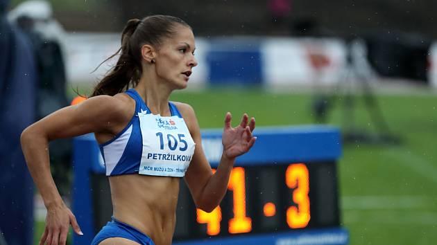 Tereza Petržilková na letošním mistrovství ČR v Třinci.