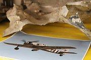 Městské muzeum Kožlany vystavuje trosky letounu Focke Wulf Fw-190