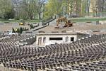 Rekonstrukce lochotínského amfiteátru.