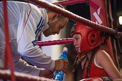 Boxing show v KD Šeříkovka v Plzni. Na snímku Jan Landa a Valentina Vacková
