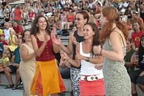 Festival Na ulici - vystoupení kapely Strašlivá podívaná v amfiteátru za Plazou