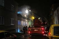 Požár na Doubravce v Plzni