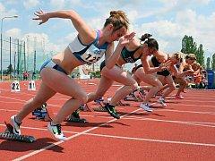 V Plzni se běžel také sprint žen na 100 metrů.