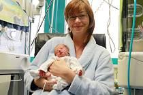 Vojtěch, Jakub a Matyáš. Ve Fakultní nemocnici Plzeň se minulý rok narodila také trojčata. Na snímku trojnásobná maminka Petra Kučerová