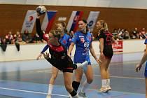 Veronika Galušková (číslo 66) hraje už několik sezon za Slavii Praha. V 5. kole v Plzni nastřílela 11 branek.