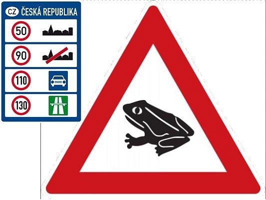 Na přivaděčích od Přeštic a Ejpovic bude nově povolená rychlost 110km/h. Značku upozorňující na žáby zatím v kraji mít nebudeme