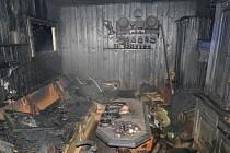 Požár chatky ve Šťáhlavicích.