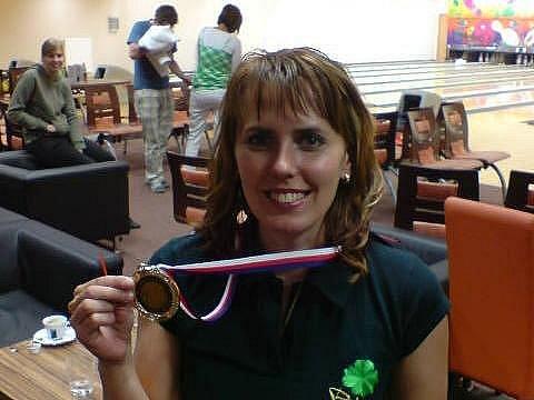 Petra Brzicová Hanzlovská z SBK Alfa Plzeň vybojovala stříbro na mistrovství ČR v bowlingu
