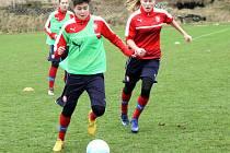 Fotbalová reprezentace juniorek do 17 let trénuje ve Vejprnicích