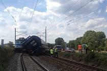 Srážka dvou vlaků u Horažďovic na Klatovsku