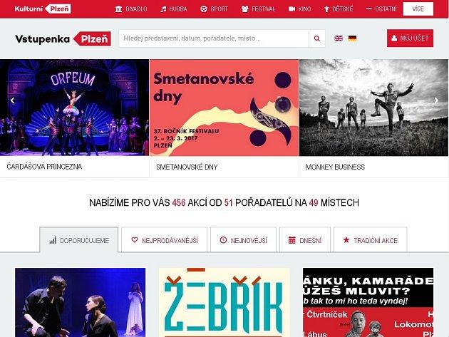Web Plzeňské vstupenky