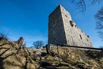 Starý Plzenec, hrad Radyně bez turistů.