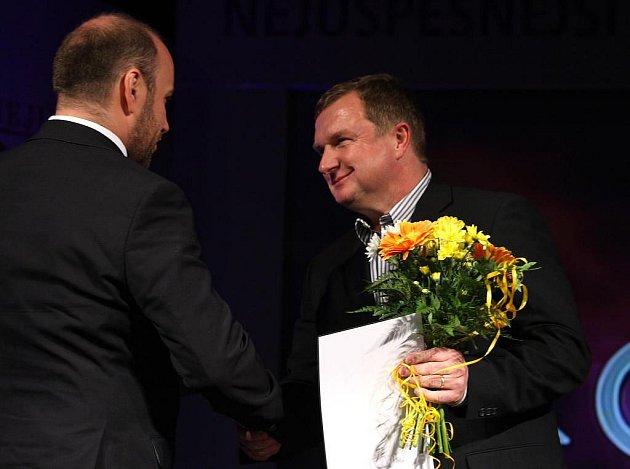 Předání ceny nejlepšímu trenérovi roku Pavlu Vrbovi
