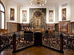 Pohled do historické expozice Umělecké řemeslo /Užité umění.