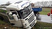 Nehoda mlékařského vozu u Chotěšova