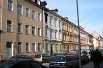 Požár bytu v Houškově ulici v Plzni