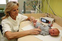 Screening vrozených srdečních vad u novorozenců.