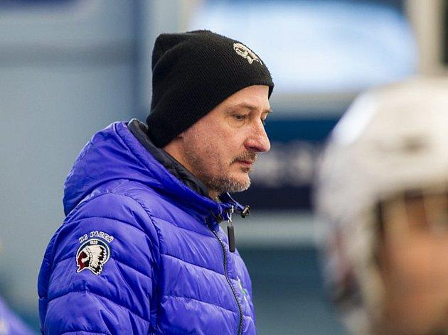 Trenér staršího dorostu Michal Straka.