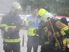 Velké cvičení Integrovaného záchranného systému v Kopeckého sadech.