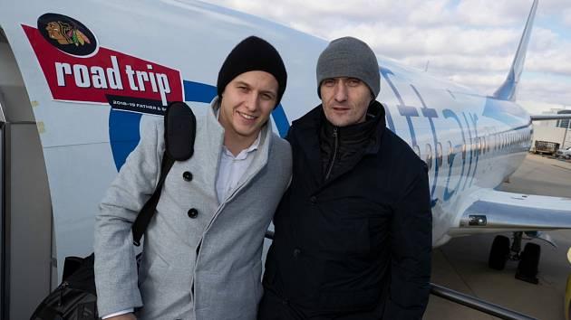Pavel Kahún (vpravo) a úspěšný německý reprezentant Dominik Kahun.