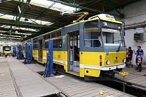 Prohlídka tramvajové vozovny na Slovanech.