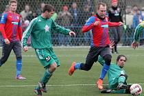 Viktoria nastřílela Tachovu v přípravném utkání tři góly.