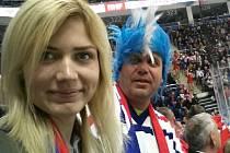 Richard Fišer vyrazil s dcerou Evou do Moskvy na dva zápasy českých hokejistů.