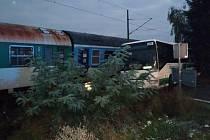 K nehodě došlo na železničním přejezdu u Lužan