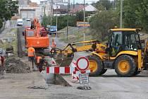 Výstavba cyklostezky v Chrástecké ulici v Plzni