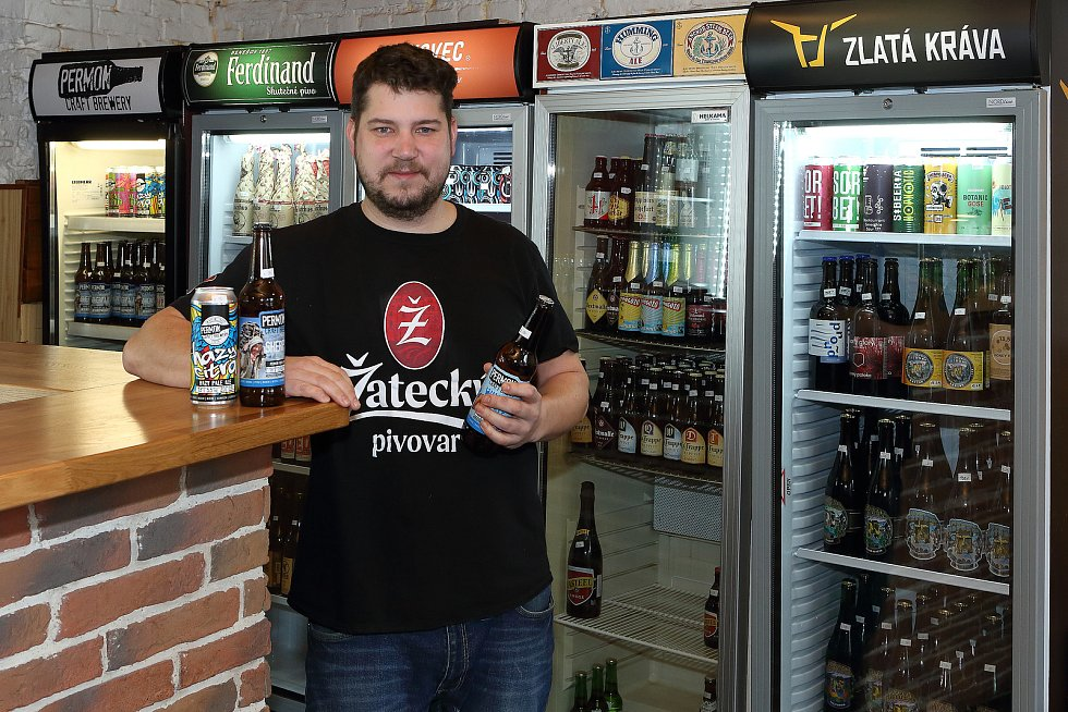 Petr Strnad v Klubu malých pivovarů v Plzni.