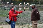 Reportér Deníku Milan Kilián a mluvčí zahrady Martin Vobruba