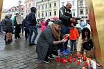 Vzpomínkové shromáždění na náměstí Republiky