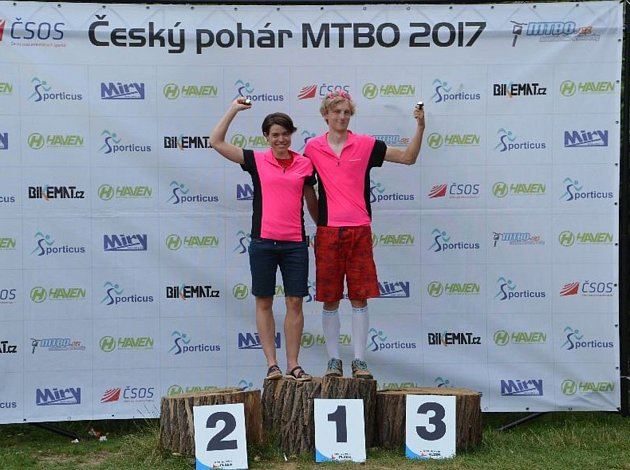Celkovými vítězi kategorie Elite se stali Martina Tichovská a Vojtěch Ludvík.