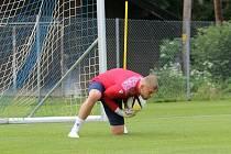 Jindřich Staněk při tréninku v rakouském Westendorfu ještě před zraněním.