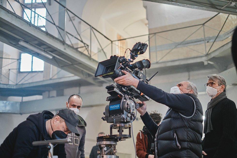 Natáčení filmu Betlémské světlo v Plzni.