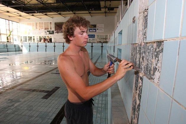 Opravy bazénu v Plzni na Slovanech