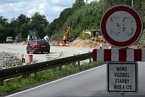 uzavírka silnice Plzeň -Radčice stavba západní okruh