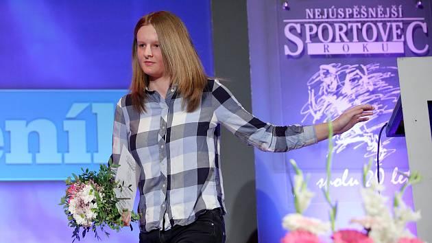 Vyhlášení nejlepšího sportovce jižního Plzeňska. Sportovní hvězda Deníku, cyklistka Jana Rychterová.