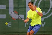 Tenista Lukáš Rosol během halového turnaje v Plzni