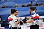 Curling v Plzni. Českým mužům se ve středu nedařilo, když podlehli Dánsku 4:10.