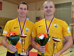 Velkou radost měli ze zisku medaile borci Startu Plzeň Ondřej Kydlíček (vlevo) a Josef Reindl