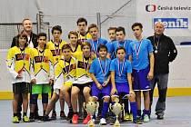 Ve finále Street Hockey Cupu zdolali hráči Domažlic (ve žlutém) soupeře ze Staňkova.