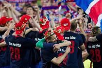 Z oslav titulu, který fotbalisté FC Viktoria věnovali Marianu Čišovskému