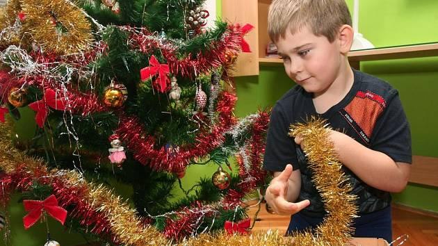 Honzík Berka z Lobez pomáhá odstrojovat vánoční stromeček, atmosféra vánočních svátků tím definitivně končí .  Plzeňské stromky  zase skončí většinou v teplárenských kotlích
