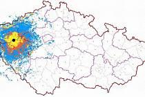 Digitální signál z vysílače Krašov pokryje území, na kterém žije 890 tisíc lidí.